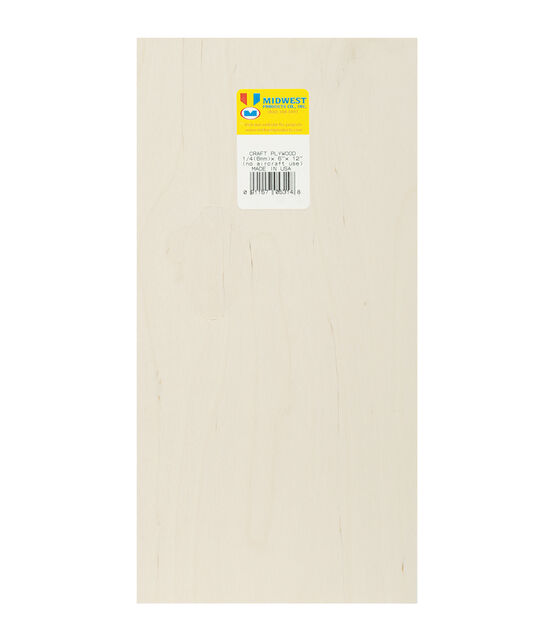 Midwest Products Craft 12''x6'' Plywood Sheet, , hi-res, image 1