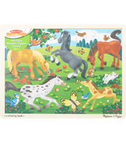 "Melissa & Doug Jigsaw Puzzle 48pcs 11.75""X15.75""-Frolicking Horses, , hi-res"