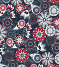 Quilter\u0027s Showcase Cotton Fabric 44\u0022-Red Navy Floral Paisley
