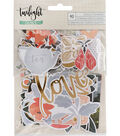 One Canoe Two Twilight Ephemera Cardstock Die-Cut-Champagne Foil Accents