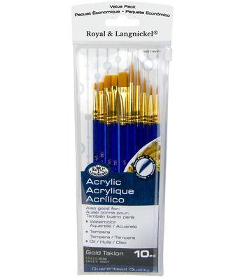 Royal Langnickel 10pc Variety Brush Set-Gold Talkon