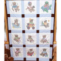 Fairway Stamped Baby Quilt Blocks Boy Bears