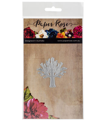 Paper Rose Small Metal Die-Tree