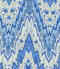P/K Lifestyles Lightweight Decor Fabric 54\u0022-Bray Flamestitch/Porcelain