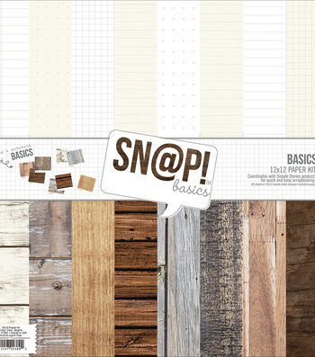 Simple Stories 12''x12'' Snap Basics Double Sided Paper Kit-
