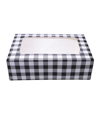 Christmas Holiday 3 pk Cookie Boxes-Plaid