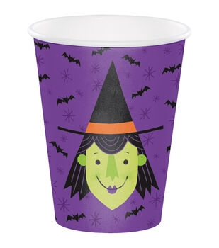 Maker's Halloween 20 pk 7.09''x3.54'' Paper Cups-Witch
