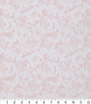 Keepsake Calico Cotton Fabric-Light Pink Pearl Roses
