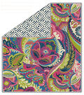 No Sew Fleece Throw 72\u0022-Giverney Diminish Boho