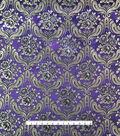 Brocade Fabric 45\u0027\u0027-Large Damask on Blackberry Wine