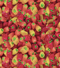 Novelty Cotton Fabric -Photoreal Mixed Peppers