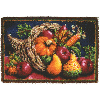 "Classics Latch Hook Kit 20""X30""-Country Harvest"
