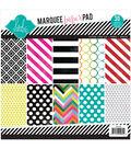 Heidi Swapp Patterned Paper Pad 8.5\u0022X8.5\u0022 30/Pkg-Marquee Love
