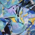 Fast Fashion Yoryu Chiffon Fabric-Lagoon Samara Paint