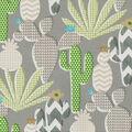 PKL Studio Outdoor Fabric-Cute Cactus Agave