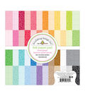 Doodlebug Petite Prints Double-Sided Paper Pad 6X6-Floral Graph Rainbow