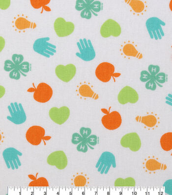 4-H Cotton Fabric-Multi Logo