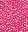 Quilter\u0027s Showcase Cotton Fabric -Daisy on Pink