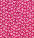 Quilter\u0027s Showcase Cotton Fabric 44\u0027\u0027-Daisy on Pink