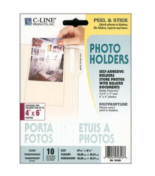 "4""x6"" Peel & Stick Photo Holders-10PK"