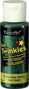 DecoArt Craft Twinkles 2 fl. oz. Brush-on Glitter Paint-Christmas Green