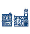 Tattered Lace Metal Die-Panorama Church And Shop