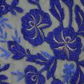 Casa Embellish Ember Mesh Fabric-Metallic Floral Surf