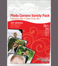 Paper Photo Corners Variety Pack 72/Pkg-