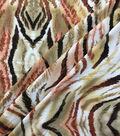 Knit Prints Rayon Spandex Fabric-Tan Tiger