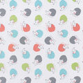 Snuggle Flannel Fabric-Colorful Hedgehogs on White