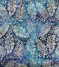 Cotton Batik Apparel Fabric 42\u0022-Blue White Textured