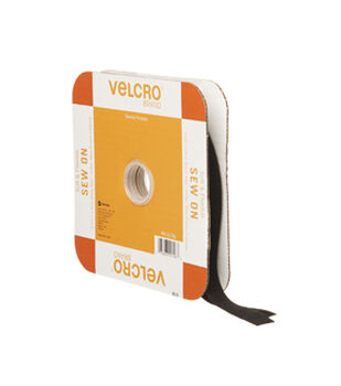 "Soft & Flexible Sew-On Velcro 5/8""-Black"