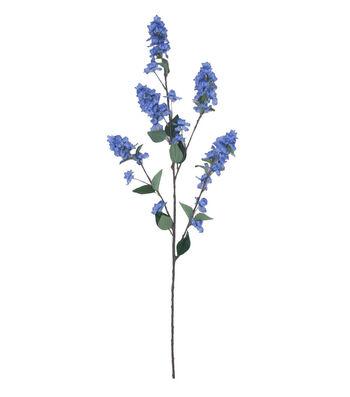 Fresh Picked Spring Tall Lilac Branch Spray-Lavender