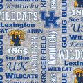 University of Kentucky Wildcats Fleece Fabric-Heather Verbiage