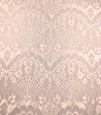 Casa Collection Eyelash Lace Fabric 57''-Bright White