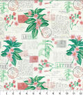 Novelty Cotton Fabric-French Postage Floral