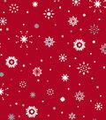 Christmas Cotton Fabric-Ditsy Metallic Snowflakes