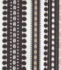 Home Decor 8\u0022x8\u0022 Fabric Swatch-Genevieve Gorder Ancient Stripe Onyx