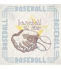 Fairway Stamped Quilt Blocks Baseball