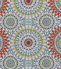 Snuggle Flannel Fabric 42\u0022-Stained Glass Medallions