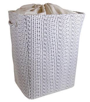 X-Large Fabric Bin-Black Dot