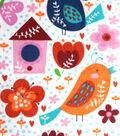 Snuggle Flannel Fabric -Bird Houses