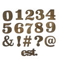 Fab Lab Craft 36 pk Numbers & Symbols-Rustic