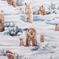 Anti-Pill Plush Fleece Fabric-Photo Real Polar Bear