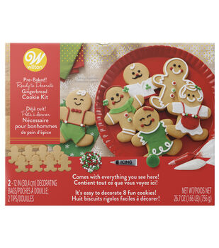 wilton gingerbread boy cookie decorating kit - Christmas Cookie Decorating Supplies