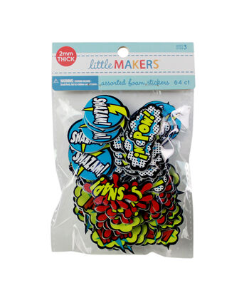 Little Makers Adhesive Foam Stickers-Super Hero