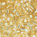Miyuki Crystal Lined Delica Beads-Silver & Gold
