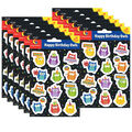Creative Teaching Press Happy Birthday Owls Stickers 12 Packs