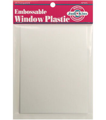 "Judikins Embossable Window Plastic Sheets 4.25""x5.5"""