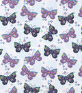 Snuggle Flannel Fabric-Patterned Butterflies